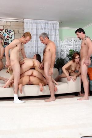 Petite Teen Orgy Porn
